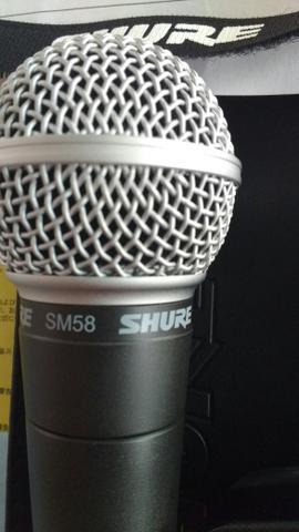 Microfone Shure SM58 LC com fio novo original