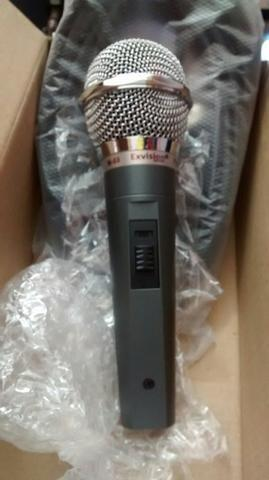 Microfone profissional Exvision M68 similar ao shure sm58