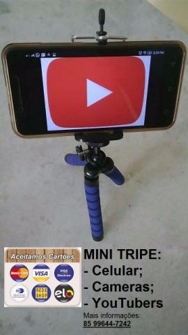 Mini Tripé Selfie Camera Digital Com Suporte