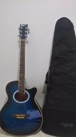 Violão Tagima Dallas azul metálico elétrico com afinador