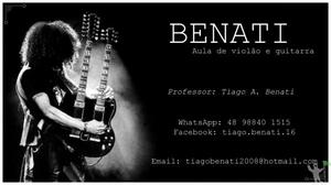 Aula de música (Violão e guitarra)