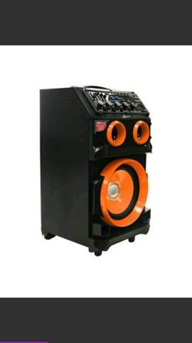 Caixa de som lenoxx 130 wats, blutetooth, microne sem fio