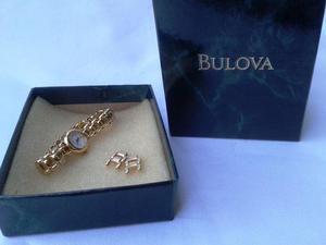 Relógio Bulova Quartz Made in Japan Banhado à Ouro