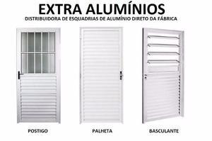 Porta de Alumínio Branco 210 x 80