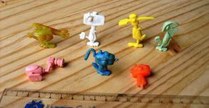 7 Miniaturas Pássaros-ferramentas Brindes Anos 80 Raridade