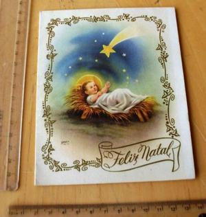 Cartão De Natal Muito Antigo - Década De 50 - Raridade