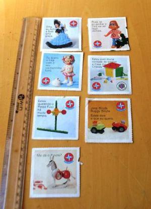 Lote 7 Cards Propaganda Brinquedos Estrela - Natal - Raro