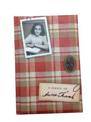 Livro o Diário de Anne Frank edição de luxo capa dura