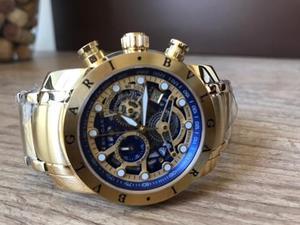 1aa6141feca Relógio bvlgari iron man subaqua skeleton dourado 12x no