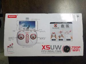 Drone Syma X5uw Câmera Com 5 Baterias, Hélices, Motores