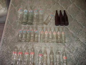 Imperdível- Coleção Garrafas antigas de Pepsi Cola e Coca