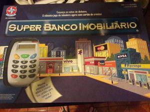 Jogo Banco Imobiliário (Com Maquinha de Cartão de