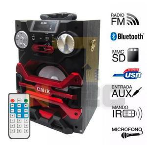 Caixa De Som Amplificada Bluetooth Microfone Usb Fm 20w E4