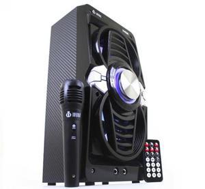 Caixa de Som Completa com Bluetoth, Microfone, Entrada USB,