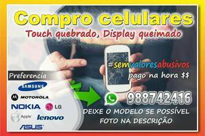 Celular com display trincado ou módulo vazado