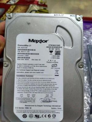 Hd Maxtor 80gb Sata