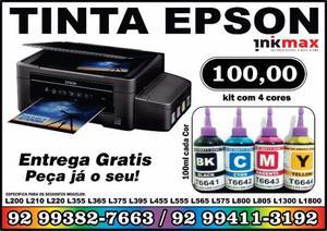 Kit de tinta para impressora Epson Ecotank 100 ml