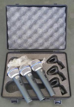 Microfone Profissional Dinâmico Mxt M-58 Como Shure Maleta