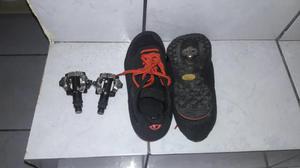 Pedal clip Shimano e sapatilha número 38