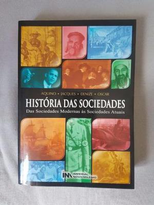 Livro História das Sociedades, nunca usado