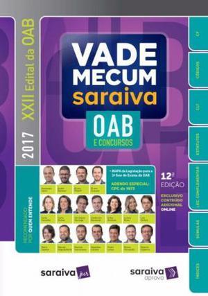 Vade Mecum Saraiva Oab E Concursos - 12ed- -usado