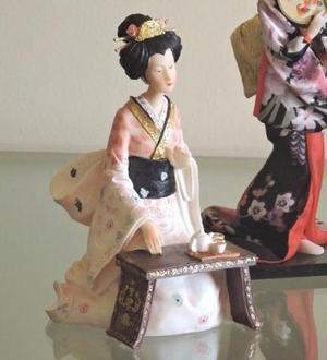 Boneca Japonesa Gueixa (cerimônia Do Chá)