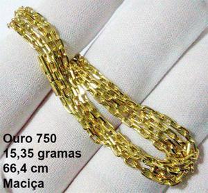 6eeca3aeafa Magnífica corrente malha cartier em ouro 18k (g