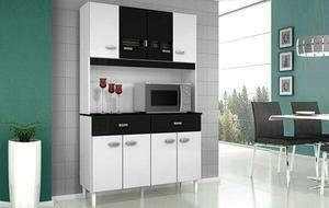 Armário cozinha manu 8 portas - novos pague na entrega