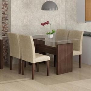 Conjunto Mesa De Jantar Com 4 Cadeiras Evidence