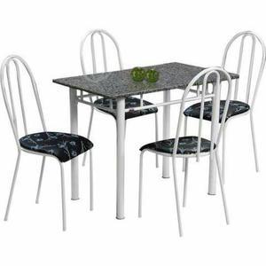 Mesa tampo granito com 4 cadeiras 1,00x0,60 pague na entrega