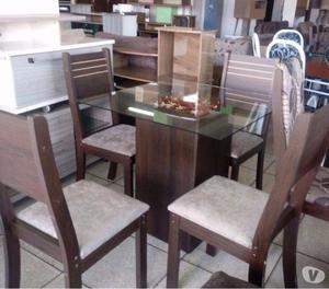 Mesa 4 cadeiras pra sala d jantar