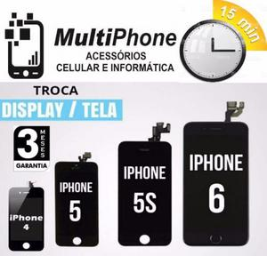 Tela de Iphone 4/4s/5/5s/5c/6/6s/Plus (Colocado na Hora)