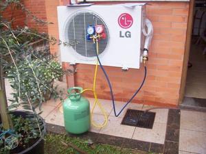 Recarga de gás em ar condicionado
