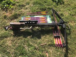Balestra 200 libras com 12 flechas profissional