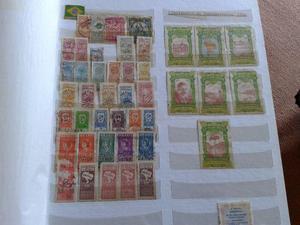 Coleção de selos antigos raros Brasil e Paises