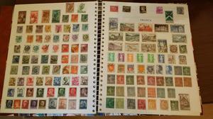 Coleção de selos nacionais e internacionais. R$ 1,00 por