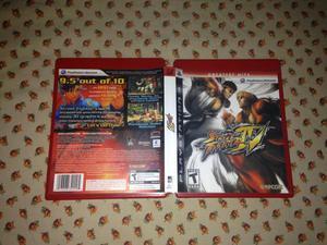 Caixa Greatest Hits Street fighter 4 so' caixa e manual Ps3