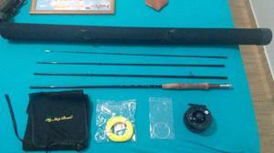 Conjunto de fly para iniciantes pesca esportiva