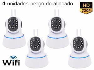 Kit 4 unidades de Wi-fi Câmera Ip 1.3 Mp visão Noturna