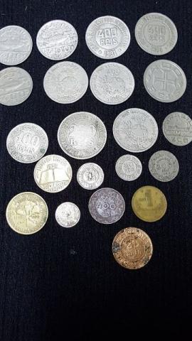Lote de 21 moedas antigas raras brasileiras, somente o lote