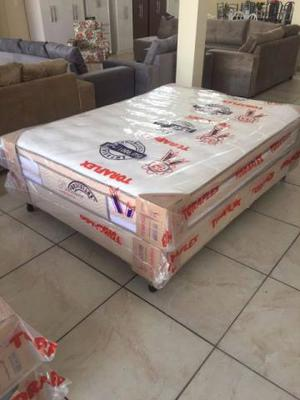 Cama box + colchão de molas ensacadas Toraflex