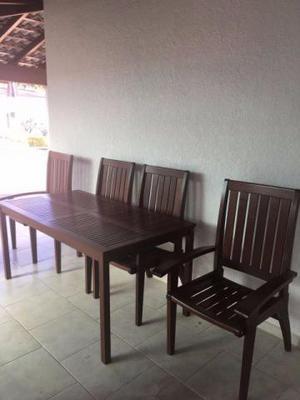 Conjunto Mesa com 4 cadeiras Tramontina