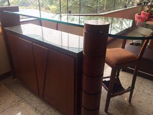 Conjunto para sala, com rack, mesas e bancada