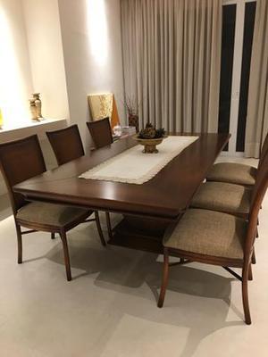 Mesa + 6 cadeiras para sala de jantar