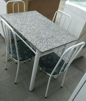 Mesa de granito com 4 cadeiras - entrego