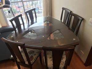 Mesa de jantar Triangular 6 Cadeiras