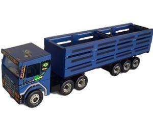 Brinquedo - Carreta Scania Azul Boiadero (Frete Gratis)