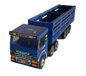 Carreta Scania Azul Boiadero - Brinquedo