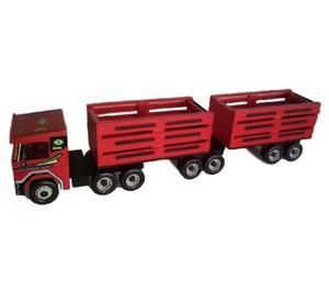 Carreta Scania Bi-Trem Vermelha- Brinquedo