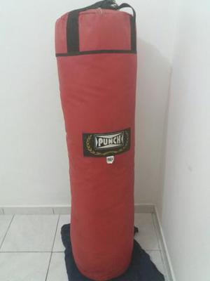 80 reais saco de pancada punch 50 kg, zerado quase não foi